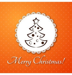 Christmas applique card background Badge with vector image