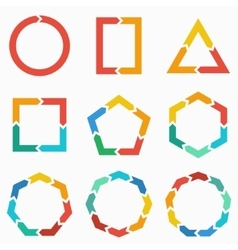 Geometric shapes arrows for infographic vector image