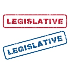 Legislative Rubber Stamps vector image