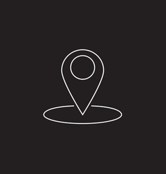 map pointer line icon outline logo vector image vector image