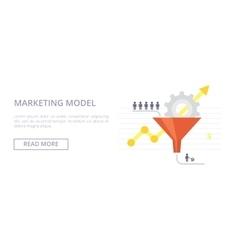 Marketing Model flat Concept vector image