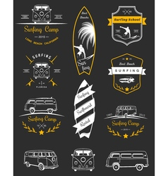 Badges and Logos Surfing vector image
