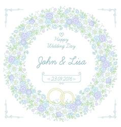 floral wedding wreath vector image vector image