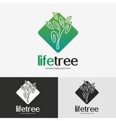 Green tree logo vector image