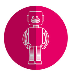 electric robot toy isolated icon vector image