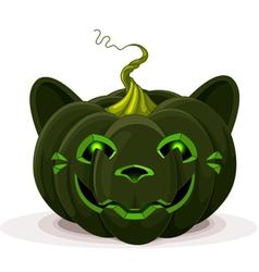 Halloween Pumpkin Cat vector image
