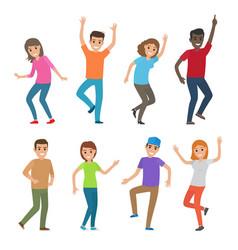 people dance big set of characters vector image vector image