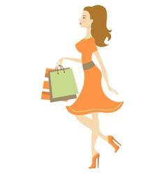 Shopping beauty vector image