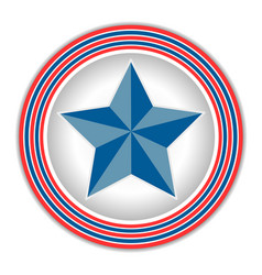 Symbol of america star vector