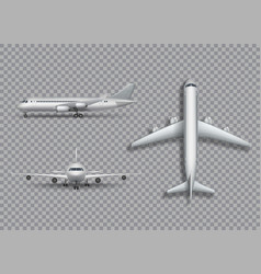 white airplane mock up isolated aircraft vector image vector image