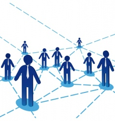 business people diagram vector image vector image