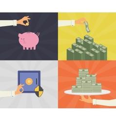 Money savings vector image vector image
