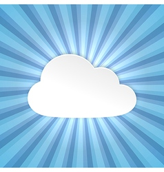 Paper cloud background vector image