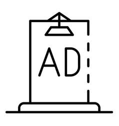 Ad city lightbox icon outline style vector