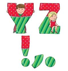 Alphabet kids YZ vector