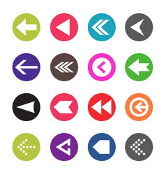 arrow icon set web arrow pictogram design vector image