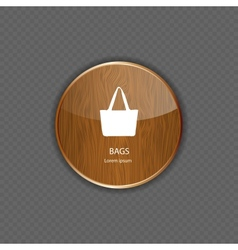Bags wood application icons vector