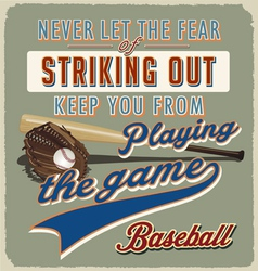 baseball striking out vector image
