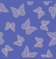 Beautiful butterflies chaotically fly randomly vector