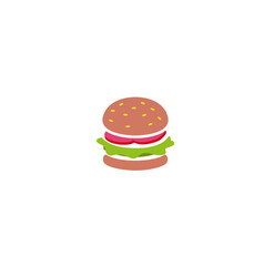 big hamburger sandwich with meat and vegetable vector image