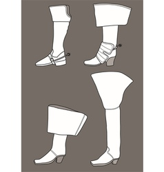 Boots from the 17th century vector