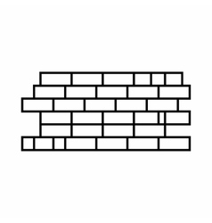 Brick wall icon outline style vector