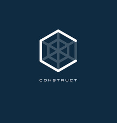 C monogram c letter construct logo vector
