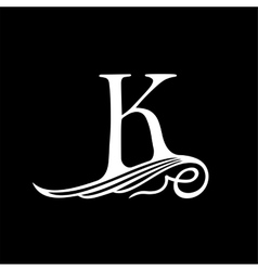 Capital Letter K for Monograms Emblems and Logos vector