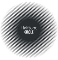 Circle line halftone Banner Noisy circle Vintage vector