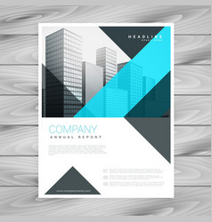 clean blue brochure design template vector image