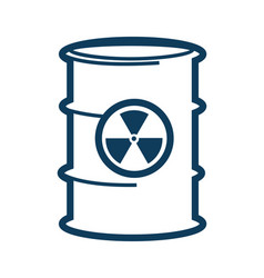 Container with toxic substance and sign hazard vector