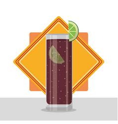 Delicious cocktail drink vector