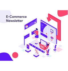 ecommerce newsletter isometric modern flat vector image