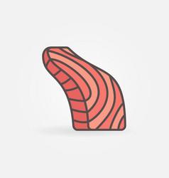 fish fillet creative icon salmon fish vector image