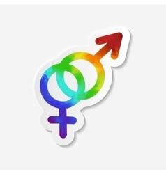 Gender identity icon Hetero symbol vector