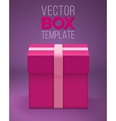 Gift Box EPS10 Realistic 3D Gift vector image