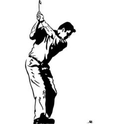 golf pose vector image