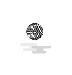 golfball web icon flat line filled gray icon vector image