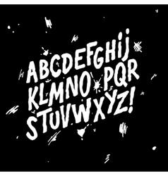 Hand lettering sketch font alphabet vector