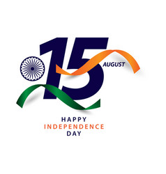Happy india independence day template design vector