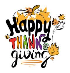 happy thanksgiving logo vector image