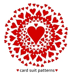 Heart card suit pattern vector