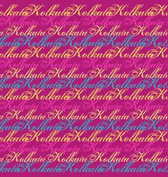 Kolkata creative pattern vector
