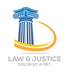 Law building and justice icon vector