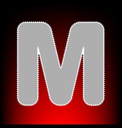 letter m sign design template element postage vector image