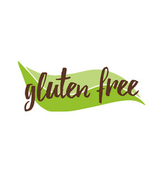 lettering phrase gluten free on green vector image