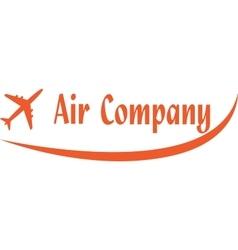 Logo of aircompany vector