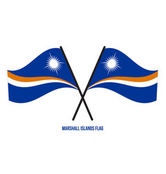 Marshall islands flag waving on white background vector
