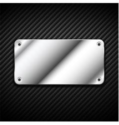 metal banner carbon 2 vector image