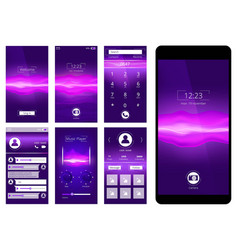 mobile ui design template interface of smartphone vector image
